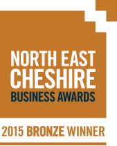 North East Cheshire Business Awards - 2015 Bronze Winner